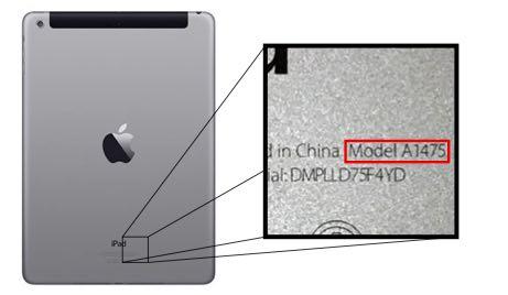 Identify your iPad model