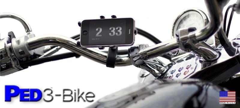PED3-Bike Steel Rotating Holder Motorcycle Bicycle Mount